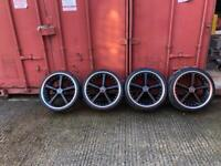 "BMW AC Schnitzer 20"" alloy wheels with tyres"