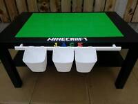 Childrens lego play building blocks tables