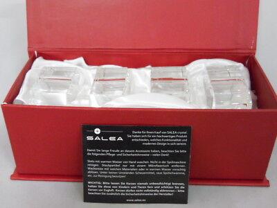4 x Serviettenringe Salea crystal Kristall Neu in OVP