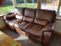 Brown 3 seater sofa for sale