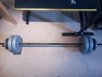 Everlast Folding Bench With 50kg Weights ( Almost Brand New )