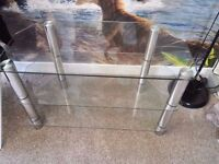 Glass TV Bench - Great condition!