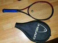 Head tennis racket including cover case