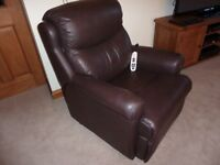 G plan Leather Riser & Recliner chair