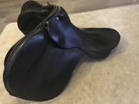 Black English leather saddle