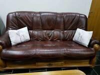 Lather sofa