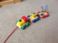 Pintoy Wooden Pull Along Activity Train