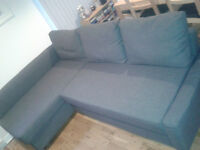 Corner sofa-bed with storage [available from the 9th of April]