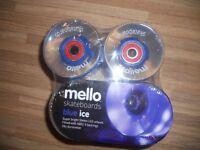 Skateboard wheels set of 4 - LED mello blue ice