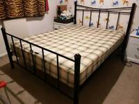 Double bed with good quality mattress
