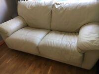 2 Seater Leather Fold out Sofa Bed
