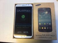 Samsung Galaxy Mega i9200 in box with all accessories SIM FREE UNLOCKED