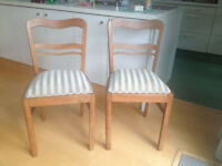 Lovely oak dining chairs
