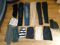 Womens clothing bundle 14 items size 8-10 jeans skirts jumpers Next H&M
