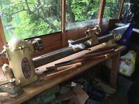 Myford wood turning lathe