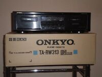 ONKYO RW313 - Twin Cassette player, Two motor computer control