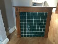 FREE - Fireplace surround with green tiles