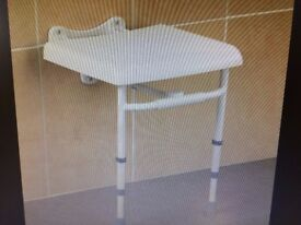 NEW wall mounted folding shower stool