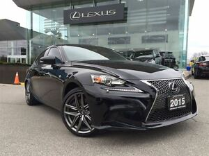 2015 Lexus IS 350 F-Sport Series 2 AWD Navi Back Up cam Leather
