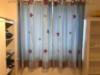 Children's/boys blue star curtains