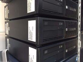 HP COMPAQ PRO 4300 JOB LOT X3 INTEL,4.00GB MEMORY,320/500GB HARD DRIVE,WINDOWS 7