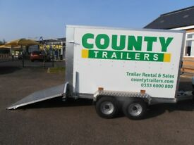 Box Trailer - 8ft x 5ft x 5 ft - Twin Axle - Drop down ramp