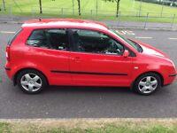 05 Red Volkswagon Polo 3dr FSI SPORT hatchback