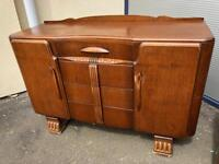 Vintage Art Deco oak sideboard ideal shabby chic project