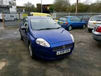 08 PLATE FIAT GRAND PUNTO. 1.2 PETROL. LOW MILES. IDEAL FIRST CAR