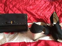 Clarks bag with matching shoe boot