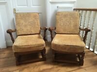 Two matching Ercol Old Colonial Armchairs