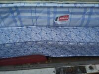 Double divan bed with mattress