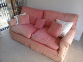Terracotta sofa now faded from sun . clean washable cover pet & smoke free home FREE
