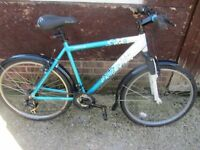 mens or ladies apollo twilight mountain bike 20inch frame with lock and lights £59.00