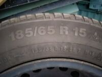 Saab 900 wheels with Continental 185/65 R15 tyres tires 6mm tread left! CHEAP!
