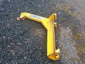 Grays forklift jib with hook would suit tractor telehandler etc