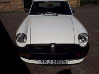 MGB GT, white, 1978 excellent condition, 12 months MOT