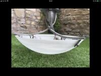 Large Onyx/glass ceiling light fitting
