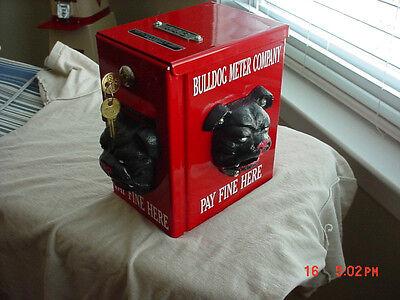 PARKING METER FINE BOX NOT CURB COP BULLDOG METER VINTAGE FINE BOX