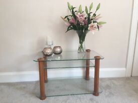 Excellent condition/ quality glass coffee/tv table