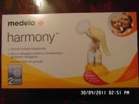 medela manual 2-phase breast pump with calma teat