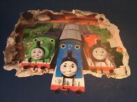 Thomas the tank wall mural