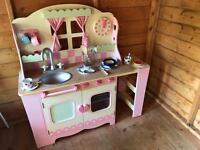 Child's Wooden Kitchen.