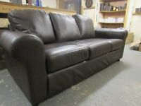 Dark Brown 3 seat sofa - Faux leather