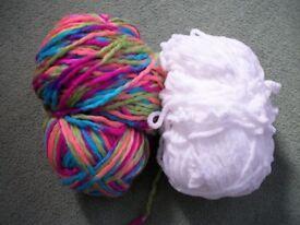Bulky Chunky Yarn assorted colours