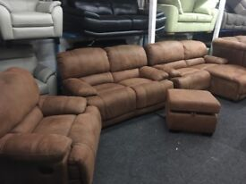 New/Ex Display LazyBoy Sandbridge Chaise Recliner Sofa +2 Seater Recliner +Recliner Chair +Footstool