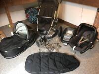 Quinny Buzz Travel System with Maxicosi Pebble Car Seat & Isofix Base