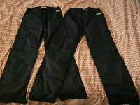 2 pairs navy blue work trousers