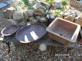Bonsai pots x 3 (so45)