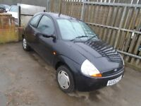 Ford KA 2002 manual petrol in Black with 58k miles - p/x to clear